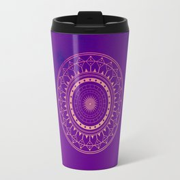 Pink & Purple Watercolor Mandala Travel Mug