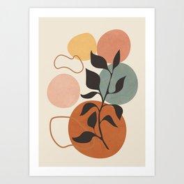 Abstract Minimal Shapes 23 Art Print