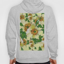 ABSTRACTED APPLE BLOSSOMS PATTERN Hoody