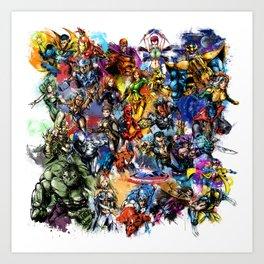 Marvel MashUP Art Print