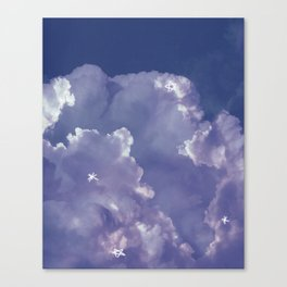 Untitled night clouds Canvas Print