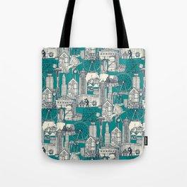 Seattle indigo teal Tote Bag