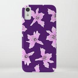 Plum Honohono Orchid iPhone Case
