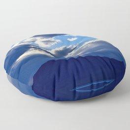 Blue Sky Dusk Floor Pillow