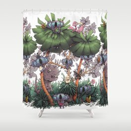 The Kiwis and Koalas Shower Curtain