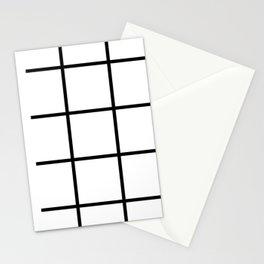 Big Grid Line Windowpane Pattern Modern Home Decor Art Design Stationery Cards