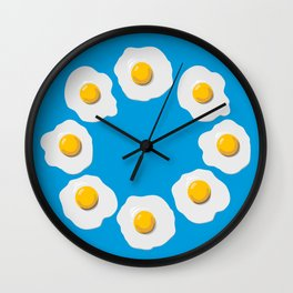 Fried Egg Clouds Wall Clock