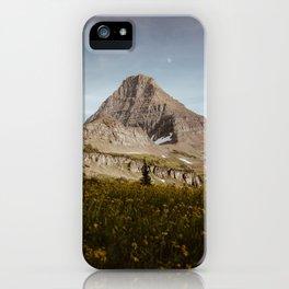 Moon Rising Above Hidden Lake iPhone Case