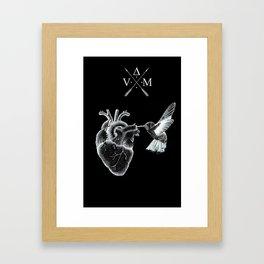 Dark Humming Heart Framed Art Print