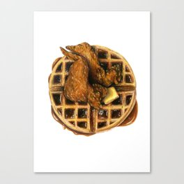 Chicken and Waffles Canvas Print