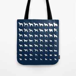 All Dogs (Navy) Tote Bag