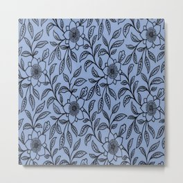 Vintage Lace Floral Serenity Metal Print