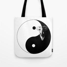 The YIN YANG ELEFANT - LIFE CURRENT series... Tote Bag
