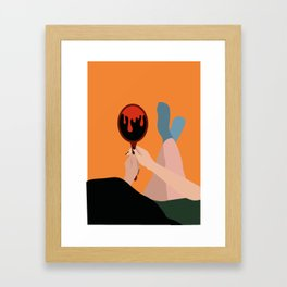 self improvement Framed Art Print