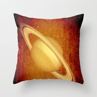 planet Throw Pillows featuring Planet by Fine2art