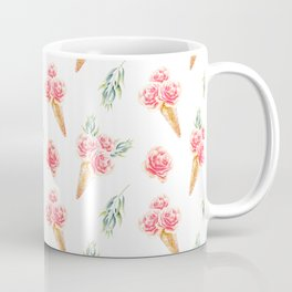 Floral Cones Pattern Coffee Mug