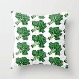 Broccoli Fever Throw Pillow