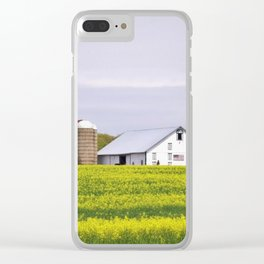 Barn and Silos Clear iPhone Case