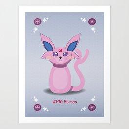 Evolution Bobbles - Espeon Art Print