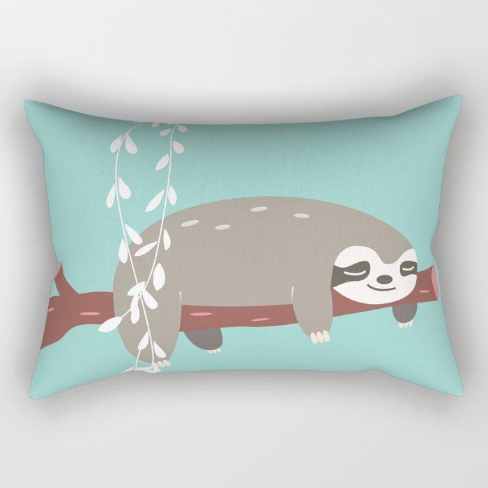 Sloth card - just 5 more minutes Rectangular Pillow