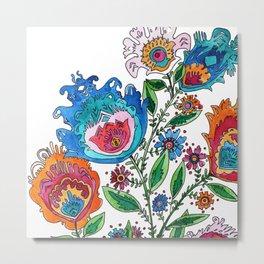 Folkart Bouquet Metal Print