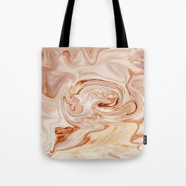 Nude Liquid Marble Tote Bag