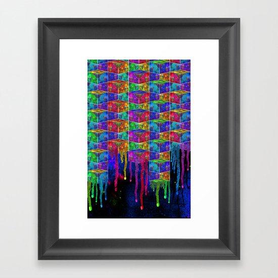 Splatter Box Framed Art Print