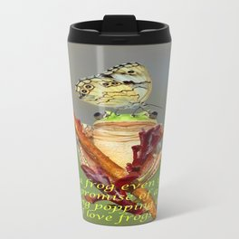 Frog and Butterfly Travel Mug