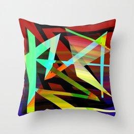 Rectilinear design Throw Pillow