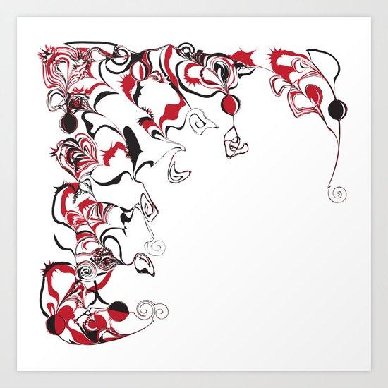 Paint Swirls And Twirls Art Print