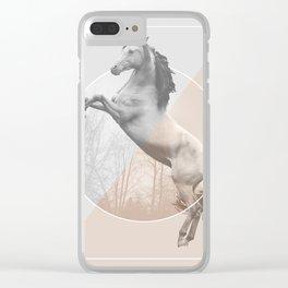 Horse Split Clear iPhone Case