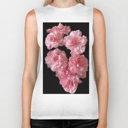 Pink Carnations Biker Tank