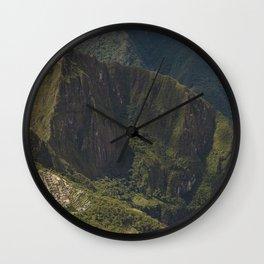 Lost Incan City Machu Picchu and Wayna Picchu Wall Clock