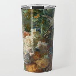 Jan van Huysum - Still life with flowers (1723) Travel Mug