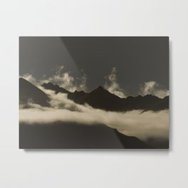 up in the mountains, down on my mind Metal Print