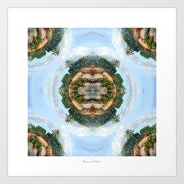 Cactus symmetry #1 Art Print