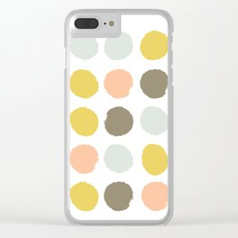 Gender neutral painted dots trendy color palette nursery gifts hipster decor Clear iPhone Case