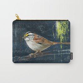white throated sparow Carry-All Pouch