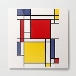 Mondrian De Stijl Metal Print