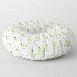 Lime Green Watercolor Dragon Floor Pillow
