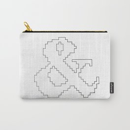 Ampersand pixel Carry-All Pouch