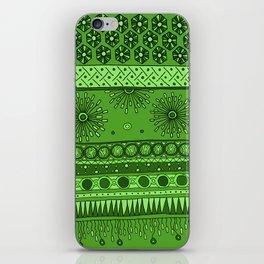 Yzor pattern 007 green iPhone Skin
