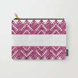 pink ethnic lace style Carry-All Pouch