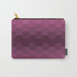 Purple Honeycombs Carry-All Pouch