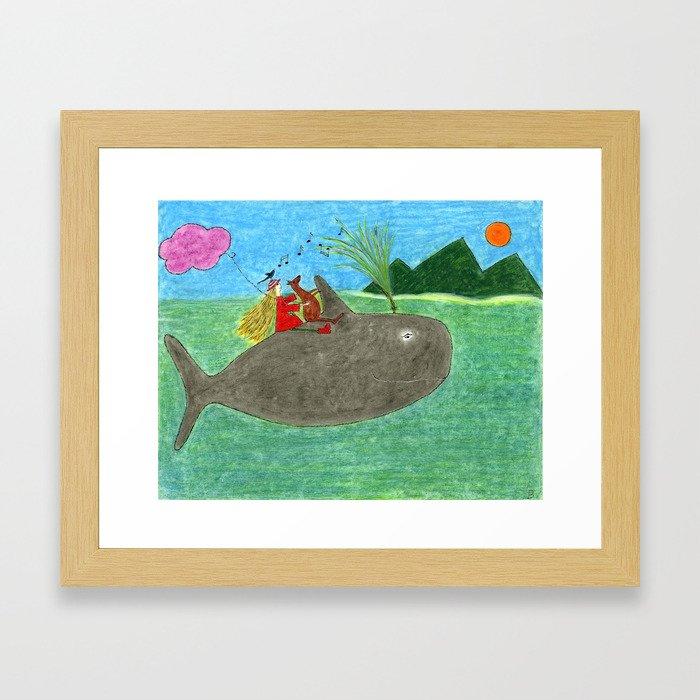 Ozzi and Lulu, The Whale Framed Art Print