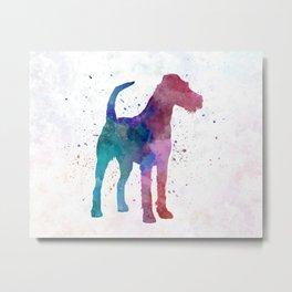 Irish Terrier in watercolor Metal Print