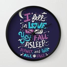 Fell in love Wall Clock