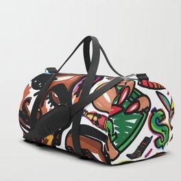 Eztaughtme Collage Duffle Bag