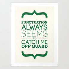 Punctuation Art Print