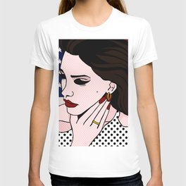 LanaDelRey Pop Art Portrait - Like An American T-shirt